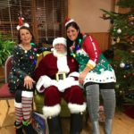 Amy and Linda with Santa 2